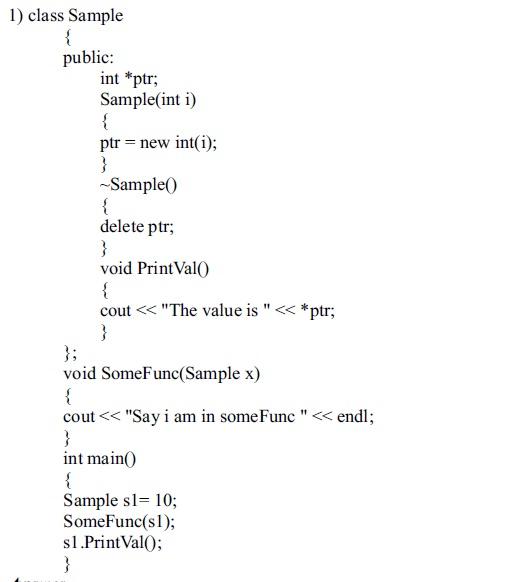 C++ Class Constructors and destructors