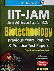 M.Sc. Biotechnology Entrance Books 2019 Best Reference Books