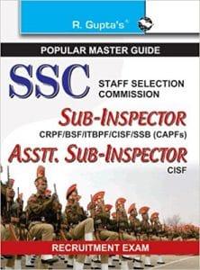 SSC 2019 Sub-Inspector Books CISF BSF CRPF ITBPF SSB NCB