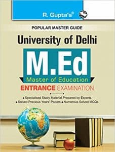 M.Ed 2019 Entrance Study Materials Books