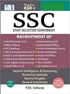 SSC Scientific Assistant 2019 Reference Books Study Materials