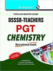 DSSSB PGT Chemistry Exam 2019 Question Papers Books