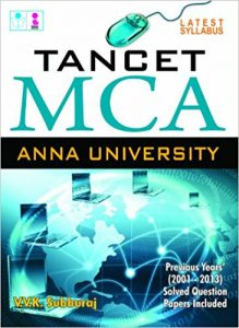 TANCET MCA 2019 Books Reference Book Study Materials