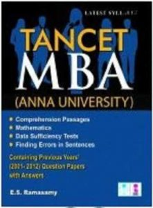 TANCET MBA Book Study Materials Reference Books 2019