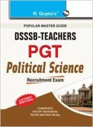 DSSSB PGT Political Science Exam 2019 Question Papers Books