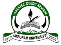 Mizoram University Admission