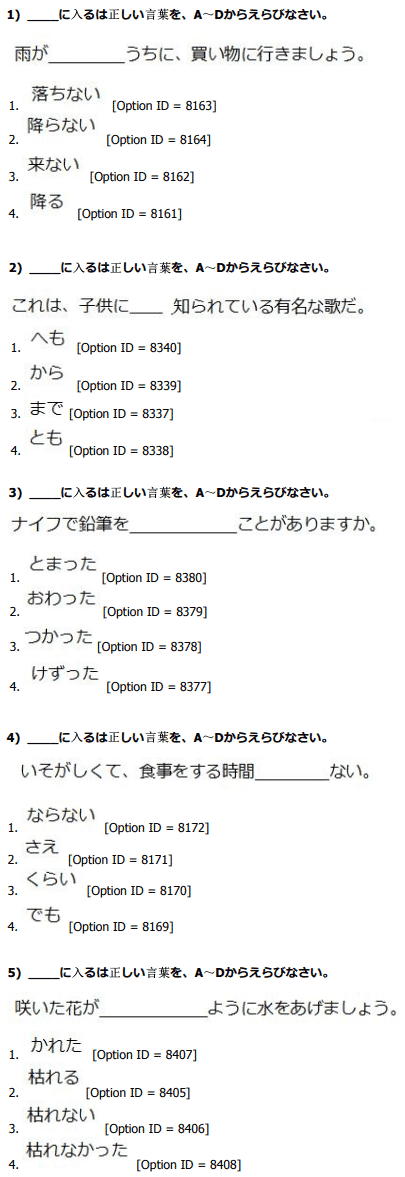 DU MA Japanese Entrance Question Paper 2019