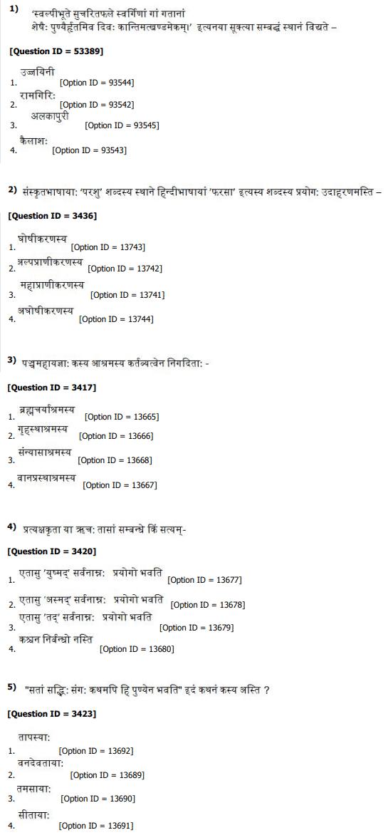 DU MPhil Phd in Sanskrit Question Paper 2019