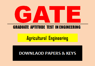 GATE Agricultural Engineering Question Paper 2019 with Solution