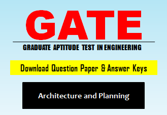 Download GATE AR Question Paper with Answer Keys