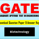 Download GATE BT Wuestion Paper