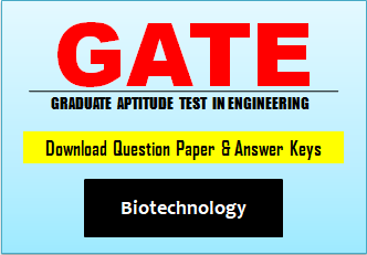 GATE BT Question Paper 2019 with Answer Key
