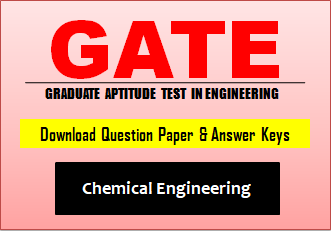 GATE CH Question Paper 2019 with Answer Key