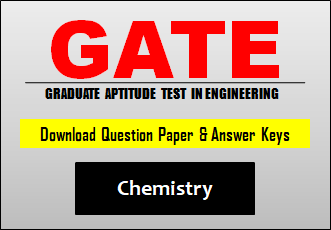 GATE CY Question Paper 2019 with Answer Key