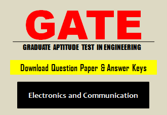 GATE EC Question Paper 2019 with Answer Key