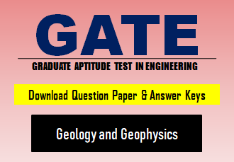 Download GATE GG Question Papers with Answer Keys 2019