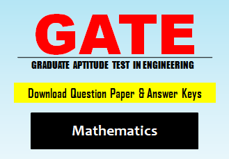 GATE MA Question Paper 2020 with Answer Keys