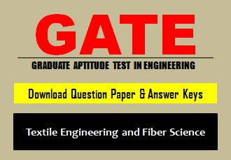 GATE TF Question Paper 2019 with Answer Key