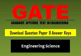 GATE XE Question Paper 2020 with Answer Keys