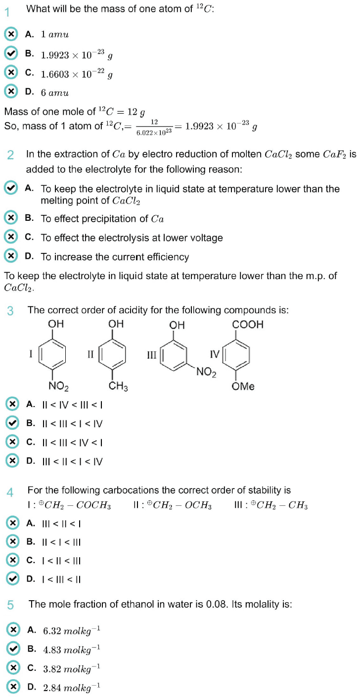 WBJEE Chemistry Question Paper 2020 with Answer Keys