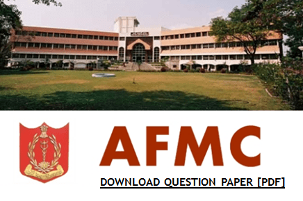 AFMC B.Sc Nursing Question Paper 2020