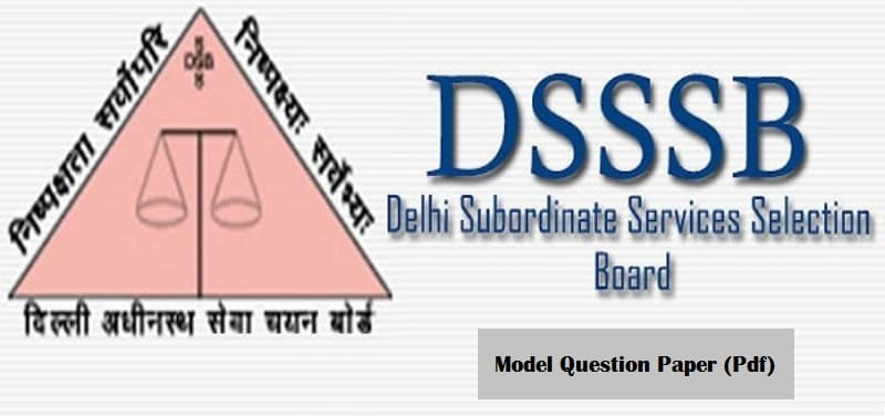 DSSSB District Staff Officer Question Paper 2020