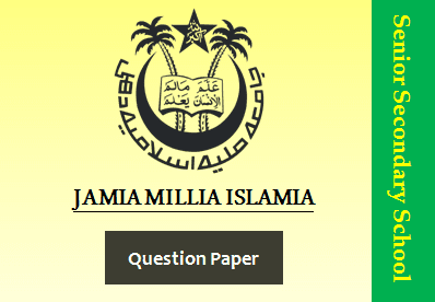 JMI Class XII Chemistry Sample Question Paper 2020