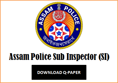 Assam Police SI Question Paper 2020