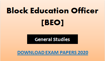 BEO General Studies Question Paper 2020