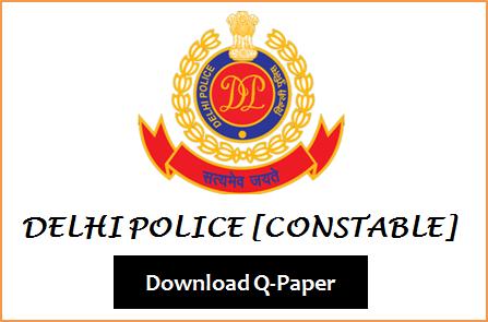 Delhi Police Constable Question Paper 2020