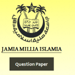 Jamia Millia Islamia Previous Year Question Paper