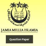 Jamia Millia Islamia Previous Year Question Paper